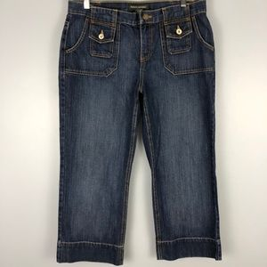 Banana Republic Capri Jeans Flap Pkt Size 12 J003